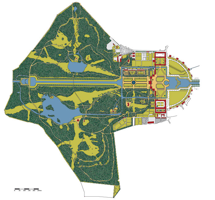Picture: Plan of the palace complex and park