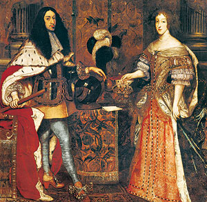 Picture: Elector Ferdinand Maria and Henriette Adelaide of Savoy, painting by Sebastiano Bombelli