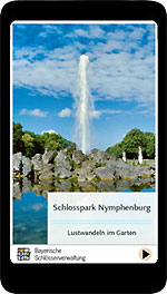 "Link to further information about the app ""Nymphenburg Park"""